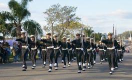 """CANELONES, URUGUAY € """"18 MEI, 2018: Zeebataljon van Uruguay, verjaardag 207 van Batalla DE las Piedras Royalty-vrije Stock Afbeelding"""
