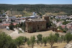 Castle of Canena. The canena castle in Jaen province, Andalusia, Spain. This beautiful castle is one of the best preserved in Jaén Stock Photo