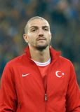 Caner Erkin in Romania-Turkey World Cup Qualifier Game Stock Image
