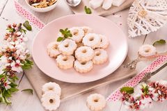 Canestrelli biscuits. royalty free stock photos