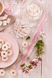Canestrelli biscuits. Canestrelli biscuits with icing sugar stock photo