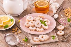 Canestrelli biscuits. stock photo