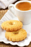 Canestrelli with coffee stock photography