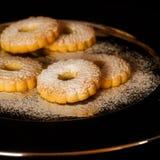 Canestrelli de las galletas con el azúcar de formación de hielo Fotografía de archivo