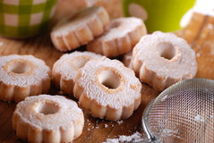 Canestrelli, traditional Italian cookies stock images