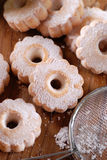Canestrelli, traditional Italian cookies Royalty Free Stock Images