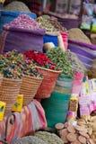 Canestri delle spezie in Marocco Fotografia Stock