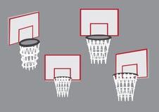 Canestri per l'illustrazione di vettore di sport di pallacanestro Fotografia Stock Libera da Diritti