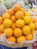 Canestro arancio Fotografia Stock Libera da Diritti