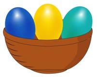 Canestro con le uova Fotografia Stock