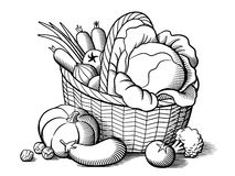 Canestro con le verdure Immagini Stock Libere da Diritti