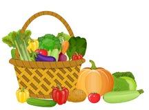 Canestro con le verdure Fotografie Stock Libere da Diritti