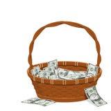 Canestro dei soldi Immagini Stock Libere da Diritti