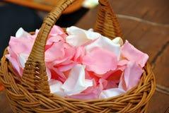 Canestro del fiore di nozze Fotografia Stock
