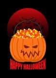 Canestro della zucca per Halloween Trucco o ossequio Caramella del cereale per ter Immagine Stock Libera da Diritti