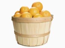 Canestro delle arance Fotografia Stock