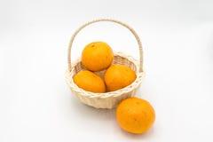 Canestro delle arance Fotografie Stock Libere da Diritti
