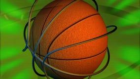 Canestro dello sport di squadra di pallacanestro illustrazione vettoriale