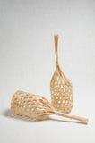 Canestro di bambù Fotografia Stock