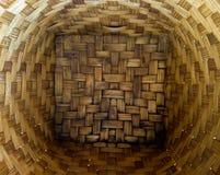 Canestro di bambù Immagini Stock