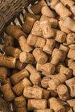 Canestro di Champagne Corks Ludes Immagine Stock