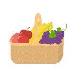 Canestro di frutta Alimento fresco e naturale organico sano Fotografie Stock