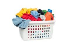 Canestro di lavanderia Fotografie Stock Libere da Diritti