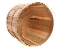 Canestro di legno Fotografia Stock