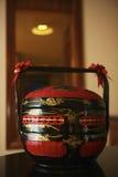 Canestro di legno cinese di nozze Fotografia Stock