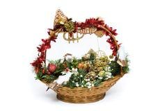 Canestro di Natale Fotografie Stock