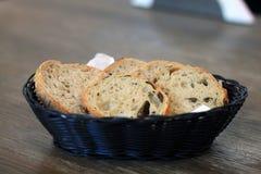 Canestro di pane fotografia stock