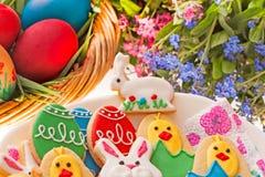 Canestro di Pasqua Fotografie Stock