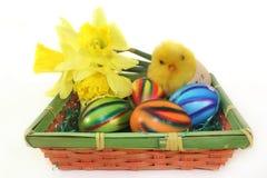 Canestro di Pasqua Fotografia Stock Libera da Diritti