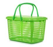 Canestro di plastica verde vuoto Fotografia Stock Libera da Diritti