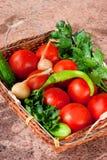 Canestro di verdure Immagini Stock