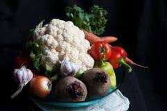 Canestro di verdure fotografie stock libere da diritti