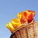 Canestro festivo del fiore fotografia stock libera da diritti