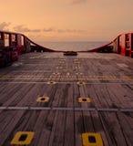 Canestro personale in barca posteriore del rifornimento Immagini Stock Libere da Diritti