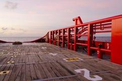 Canestro personale sulla barca Fotografie Stock