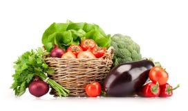Canestro pieno delle verdure mature Immagine Stock Libera da Diritti
