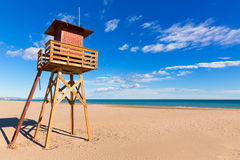 Canet de Berenguer beach in Valencia in Spain Royalty Free Stock Photography