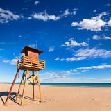 Canet de Berenguer beach in Valencia in Spain Royalty Free Stock Photo