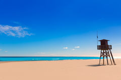 Canet de Berenguer beach in Valencia in Spain Royalty Free Stock Image