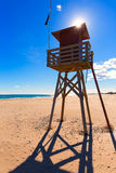 Canet de Berenguer beach in Valencia in Spain Royalty Free Stock Images