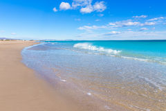 Canet de Berenguer beach in Valencia in Spain Stock Photo