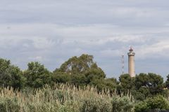 Free Canet De Berenguer Lighthouse From Puerto De Sagunto, Valencia, Stock Photography - 105416992