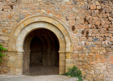 Canete Cuenca puerta San Bartolome stone fort Spain Royalty Free Stock Photos