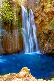 Canete waterfalls in Cuenca at Spain Royalty Free Stock Images