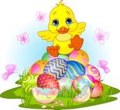 Caneton heureux de Pâques Photo libre de droits