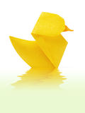 Caneton jaune d'origami Photographie stock